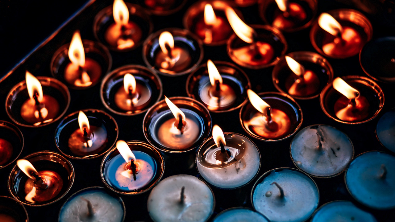 Candles wallpaper 1280x720