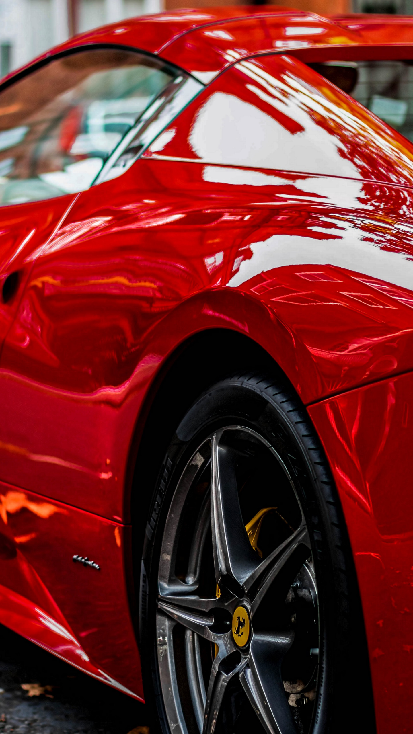 Download Wallpaper Red Ferrari 1440x2560