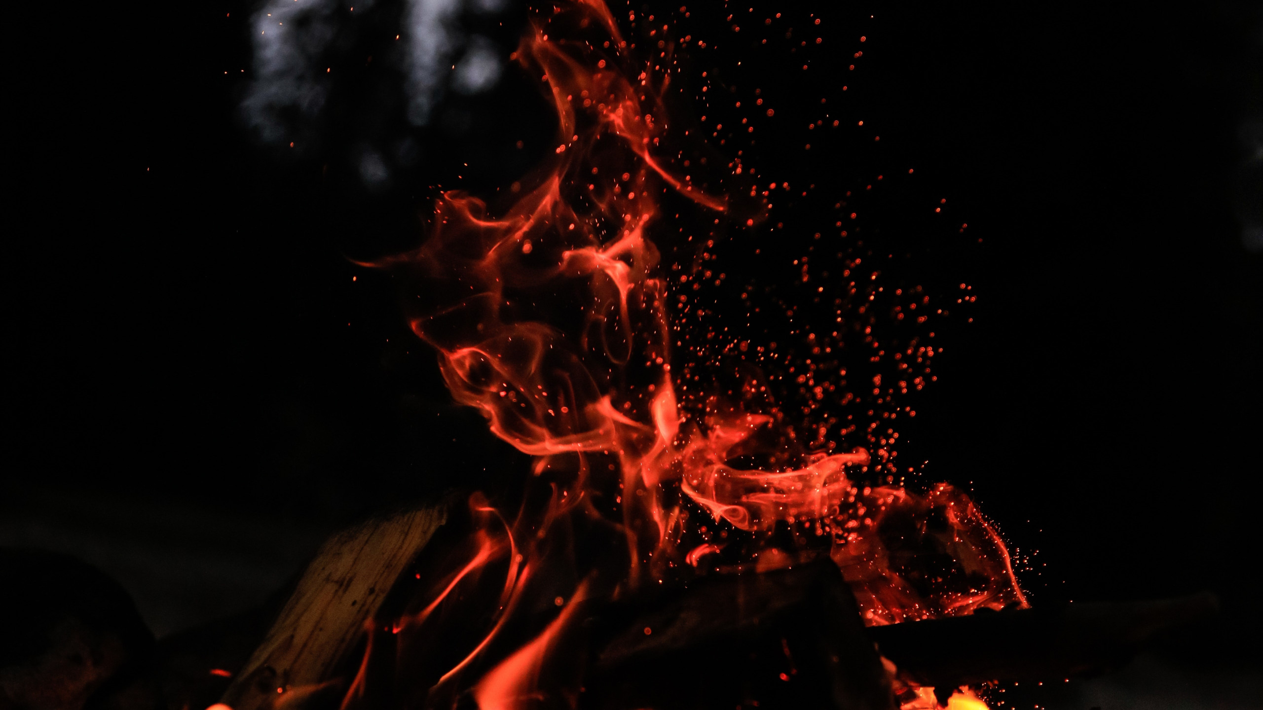 fire in the cold night 2560x1440 wallpaper download link