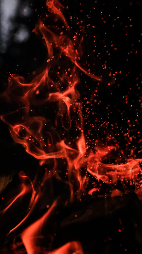 Fire in the cold night wallpaper 480x854