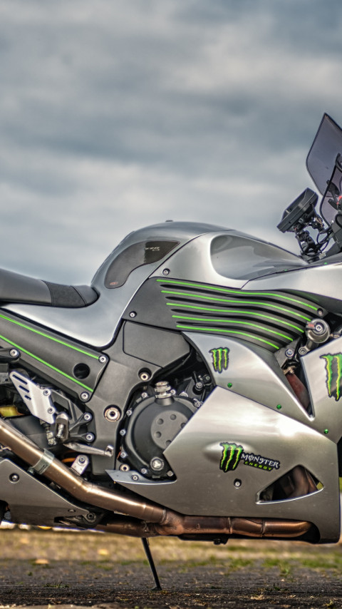 Kawasaki ZZR1400 wallpaper 480x854