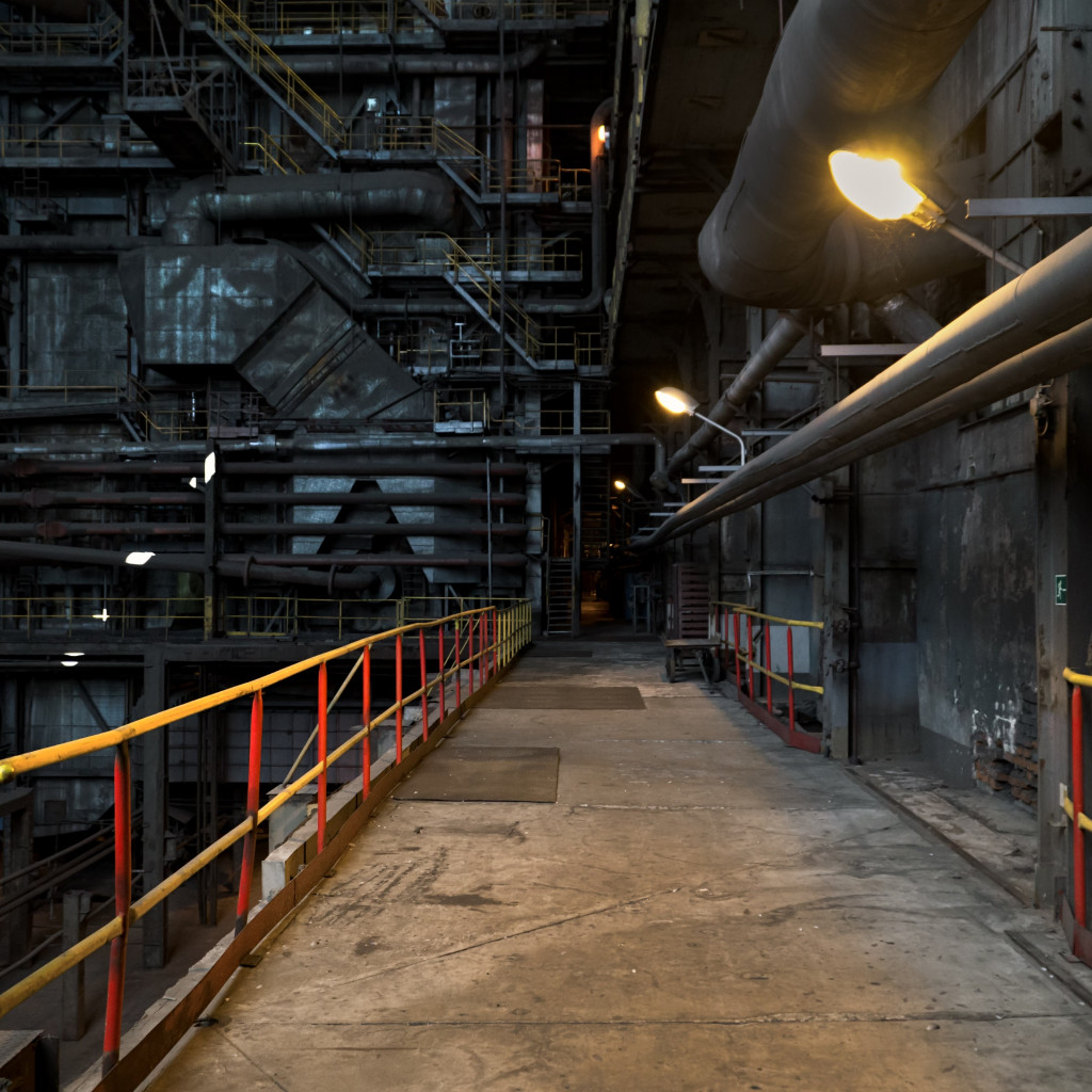 The inside of a power station wallpaper 1024x1024