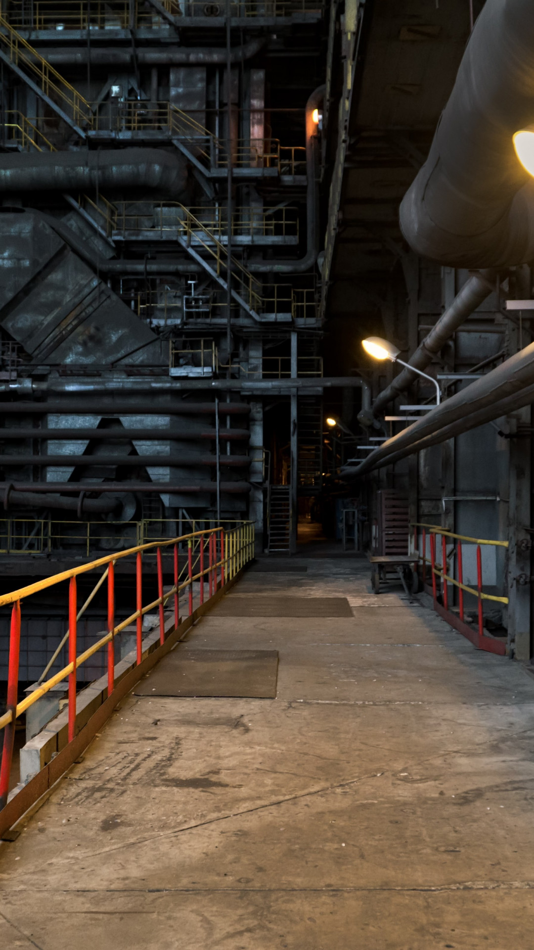 The inside of a power station wallpaper 1080x1920