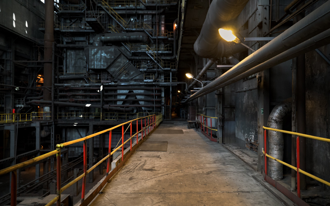 The inside of a power station wallpaper 1280x800