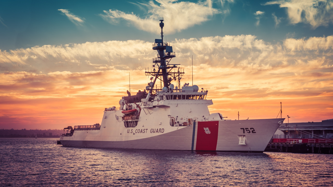 Coast Guard Cutter Stratton wallpaper 1280x720