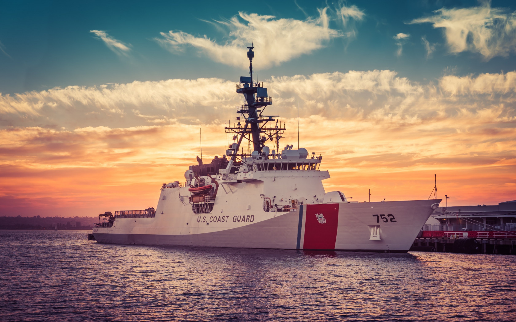 Coast Guard Cutter Stratton wallpaper 1680x1050