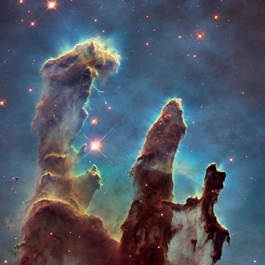 The Eagle Nebula's Pillars of Creation | 1024x1024 wallpaper