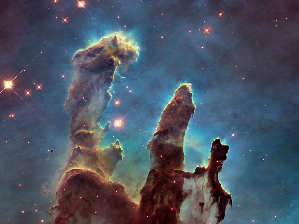 The Eagle Nebula's Pillars of Creation wallpaper 1024x768