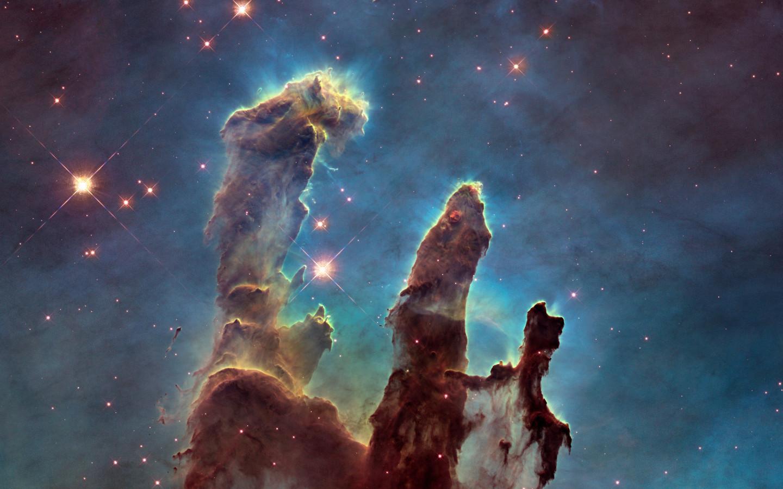 Pillars Of Creation Wallpaper Hd: Download Wallpaper: The Eagle Nebula's Pillars Of Creation
