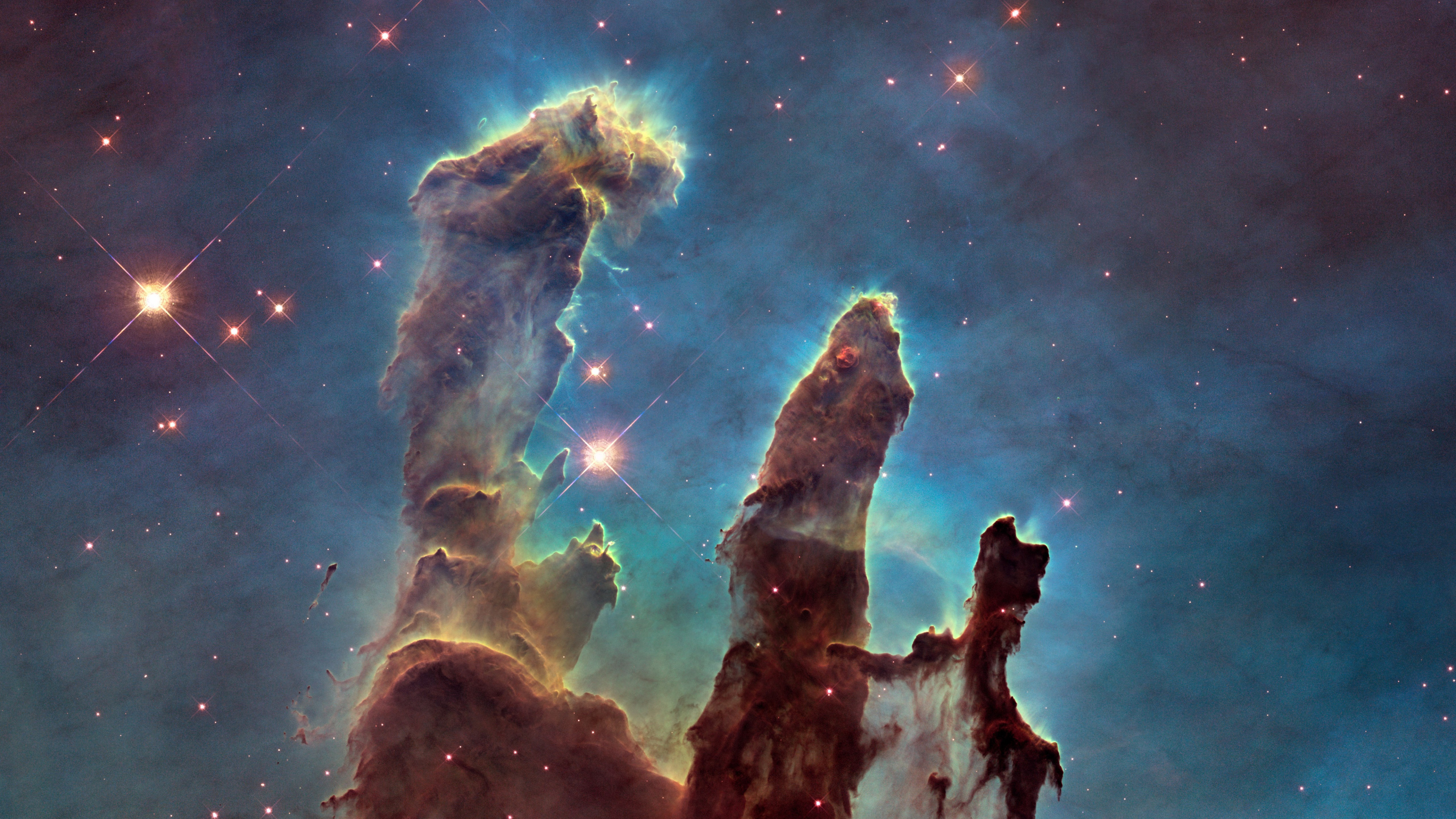 The Eagle Nebula's Pillars of Creation wallpaper 3840x2160