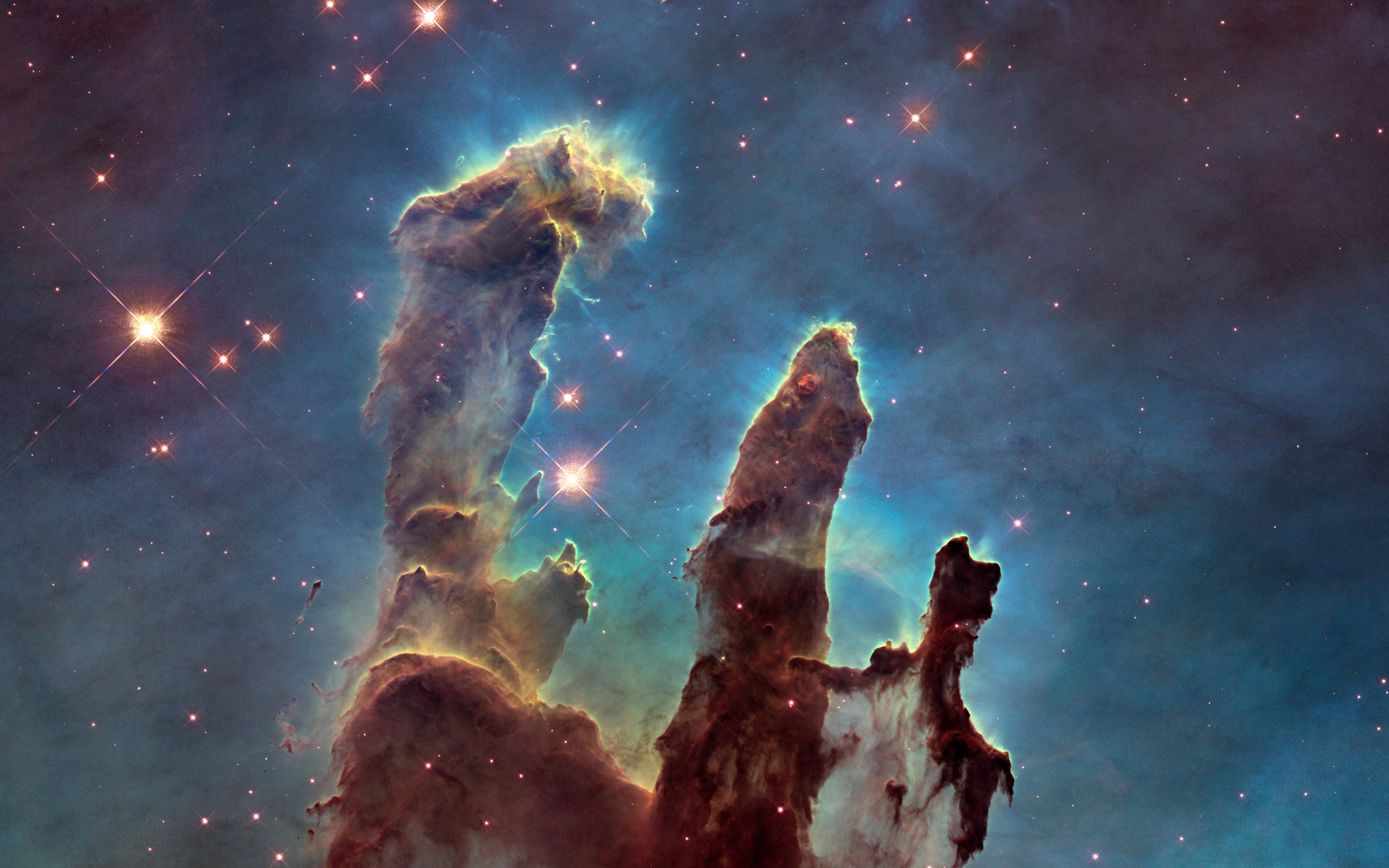The Eagle Nebula's Pillars of Creation wallpaper 5120x3200