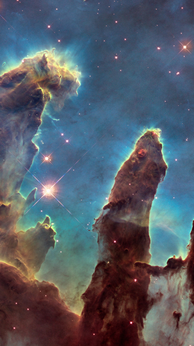 The Eagle Nebula's Pillars of Creation | 750x1334 wallpaper