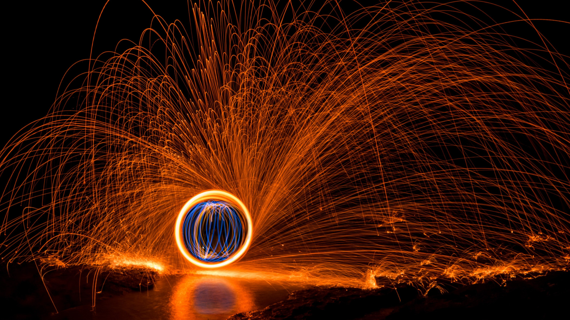 Hot light painting wallpaper 1920x1080