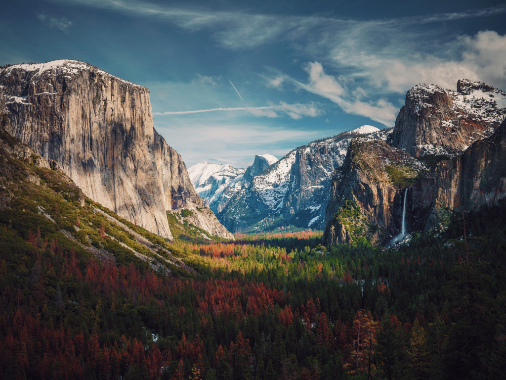 Best View from Yosemite wallpaper 1024x768