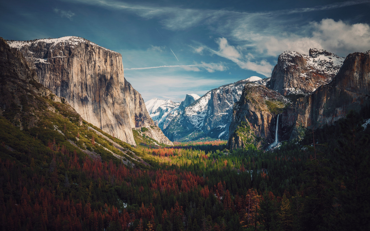 Best View from Yosemite wallpaper 1280x800
