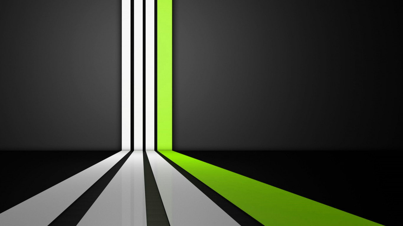 Clean Lines Green wallpaper 1366x768