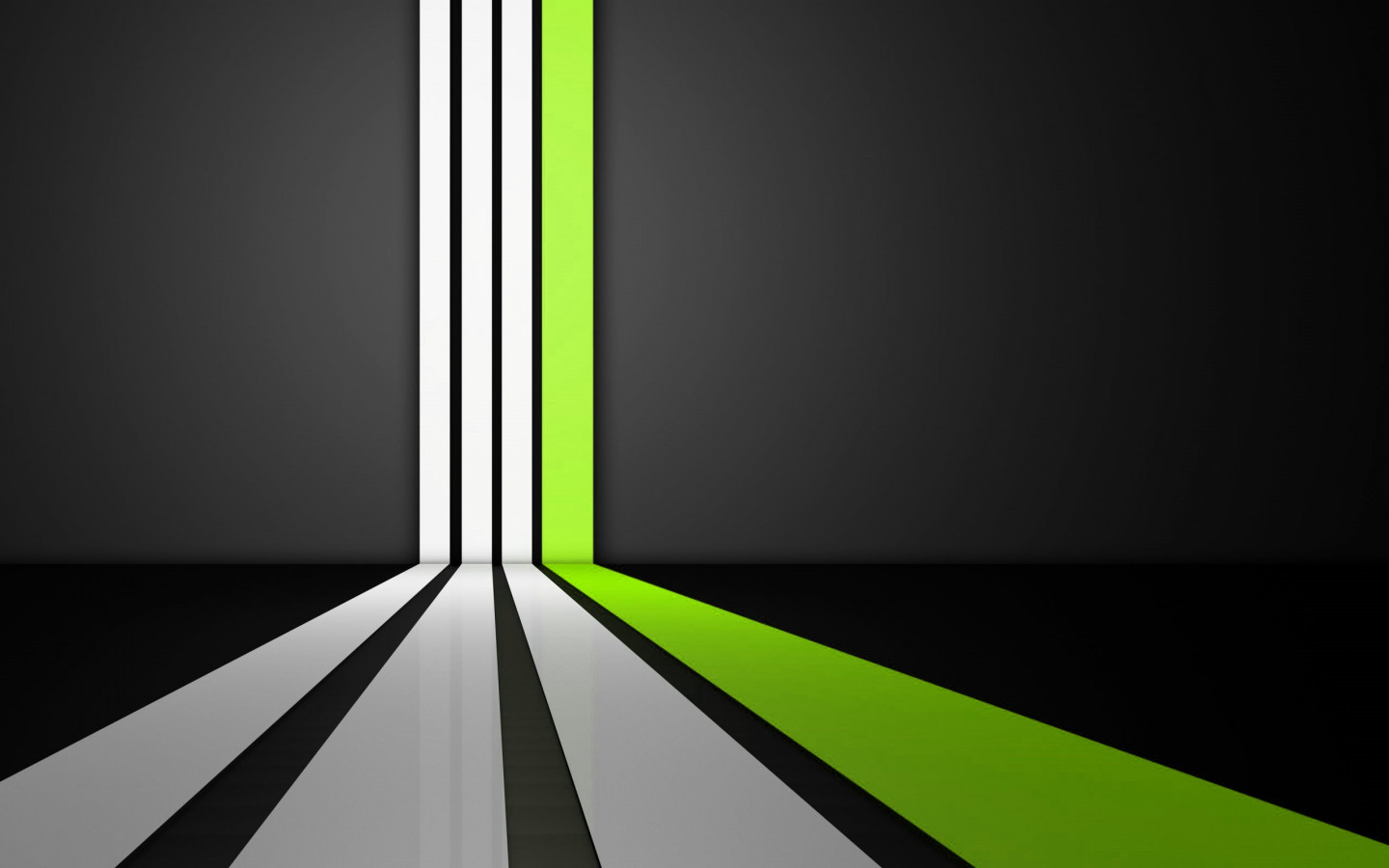Clean Lines Green wallpaper 1440x900