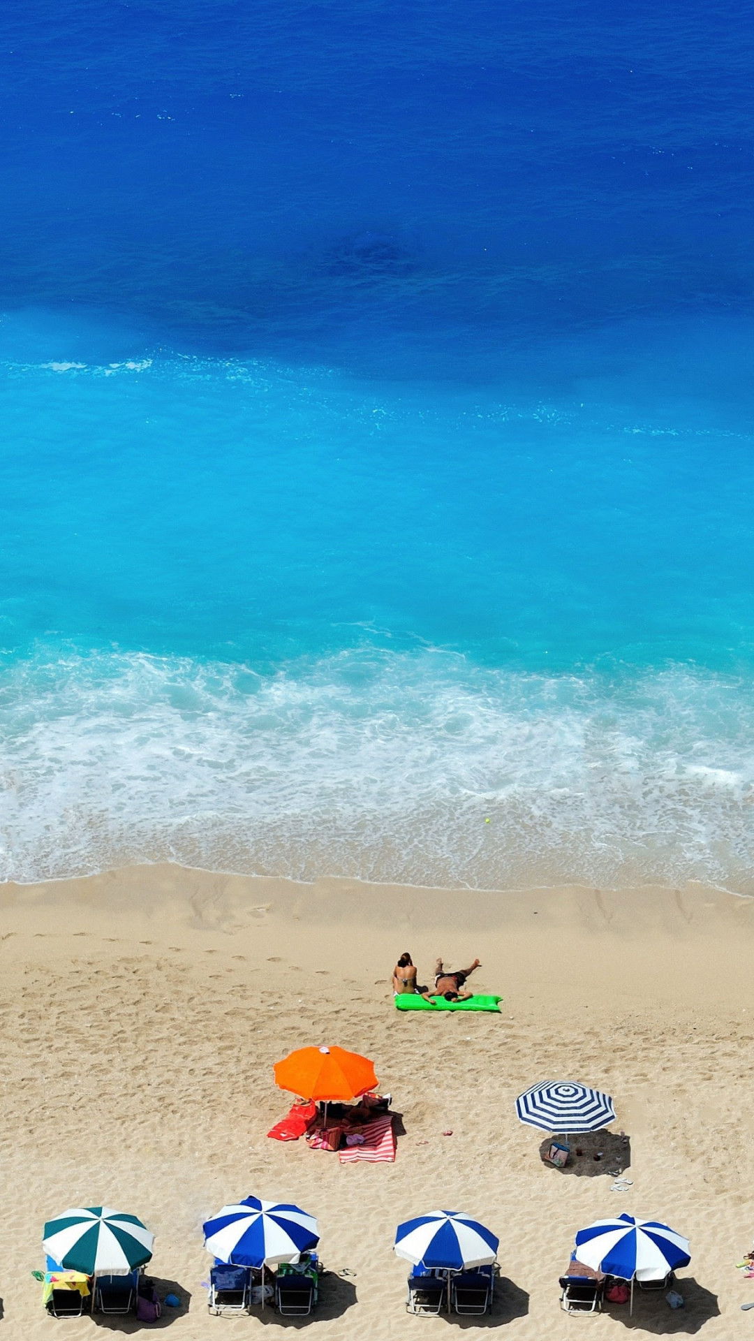 Lefkada Beach wallpaper 1080x1920