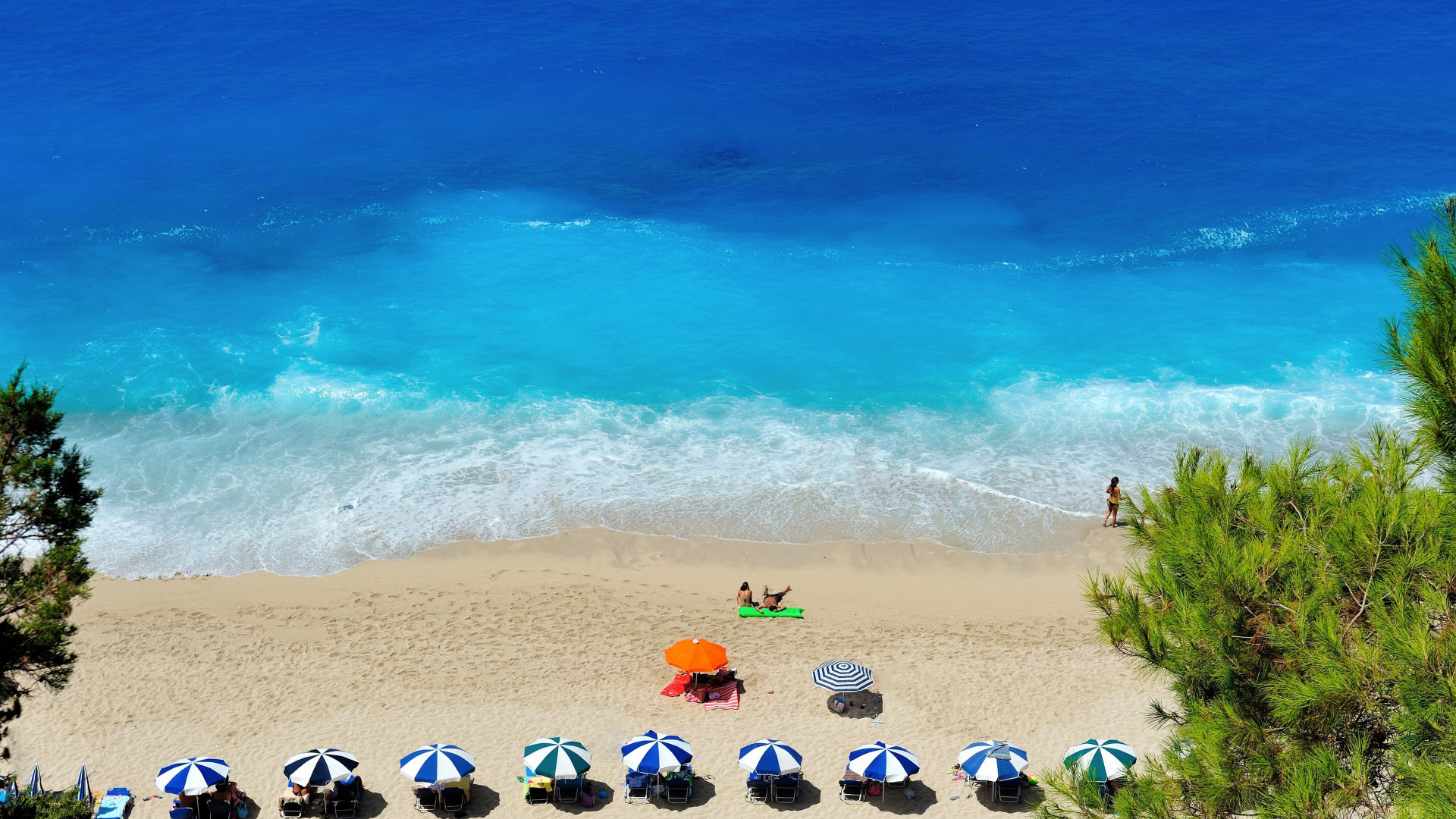 Lefkada Beach wallpaper 1920x1080
