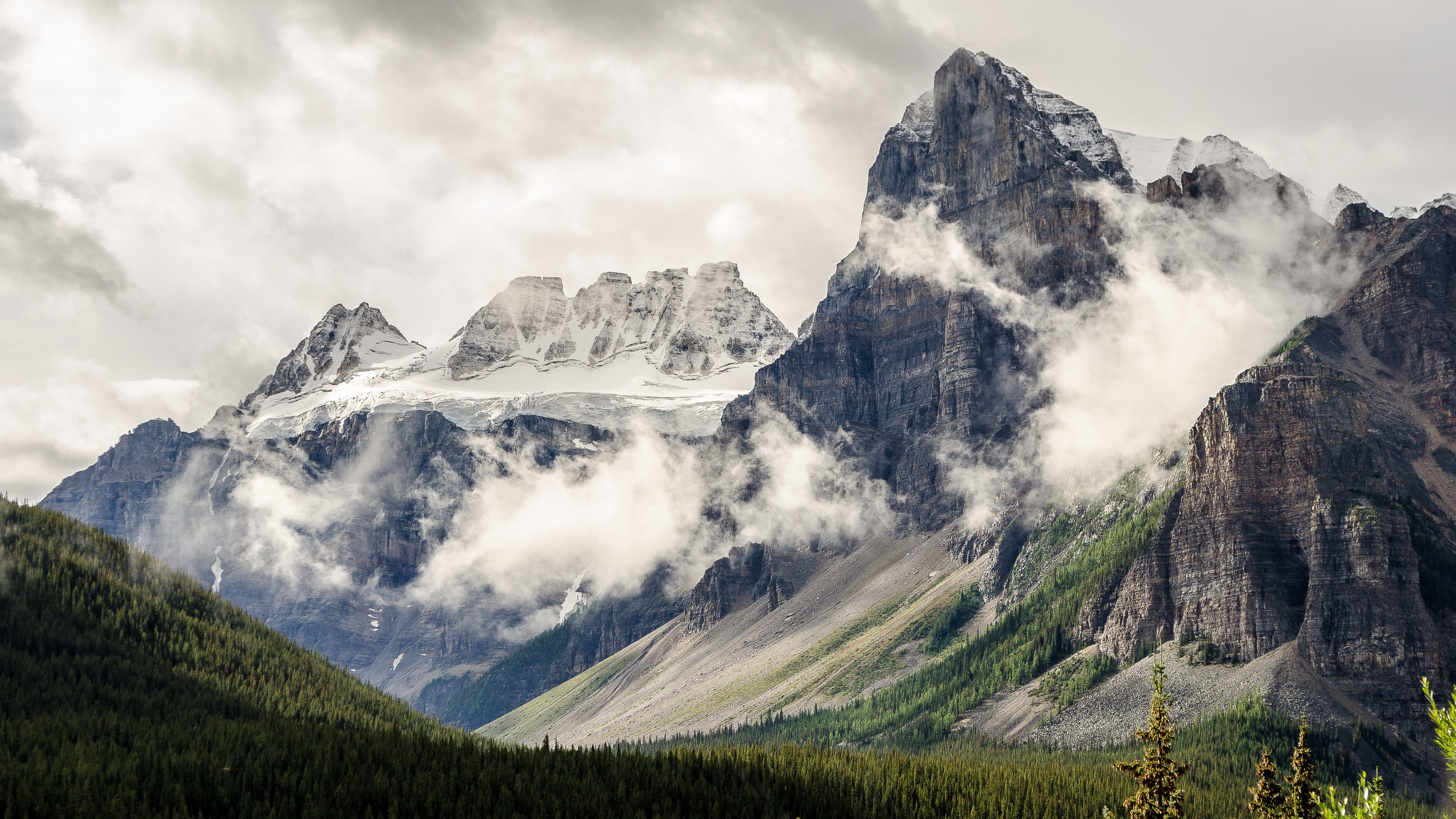 Alberta, Canada, natural landscape wallpaper 3840x2160