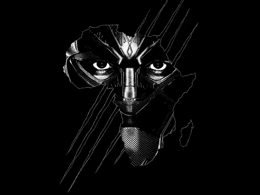 Black Panther wallpaper 1024x768