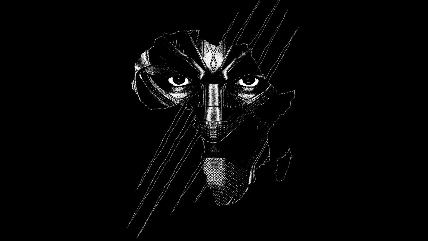 Black Panther wallpaper 1366x768
