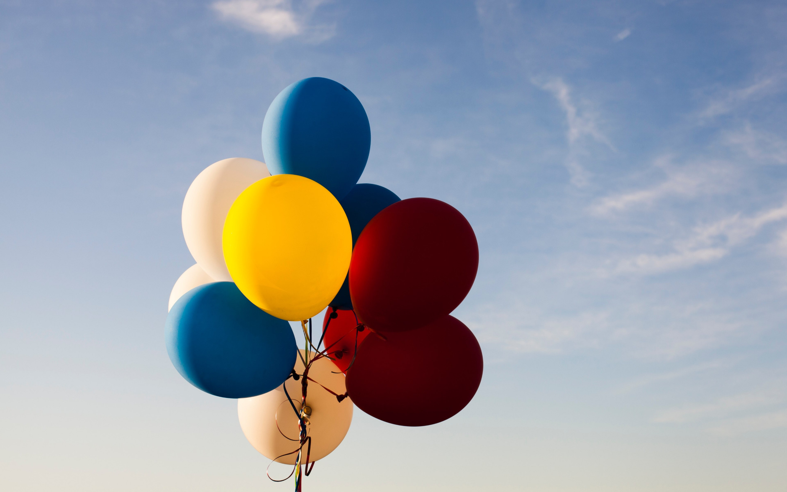 Colored balloons wallpaper 2560x1600