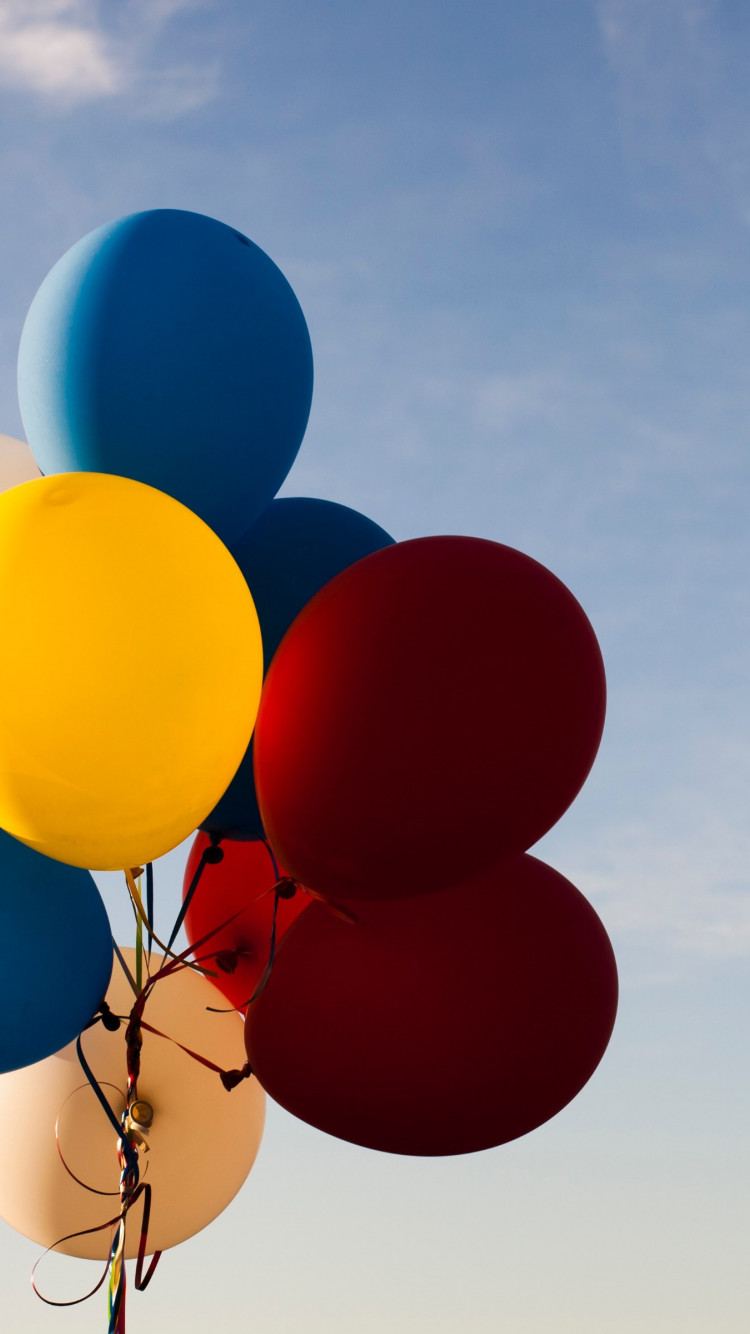 Colored balloons wallpaper 750x1334