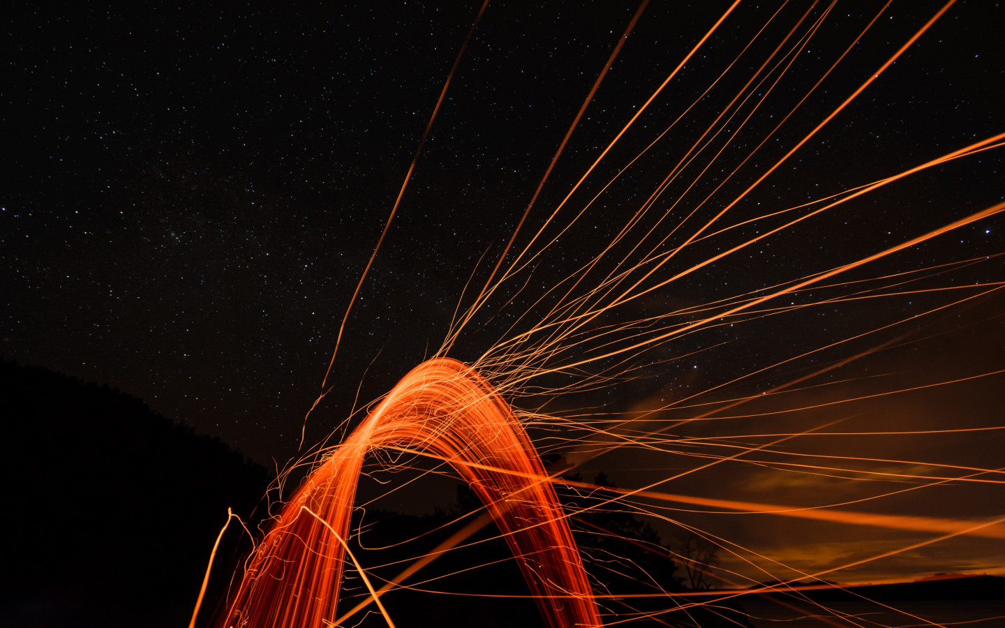 Flying sparks wallpaper 1440x900