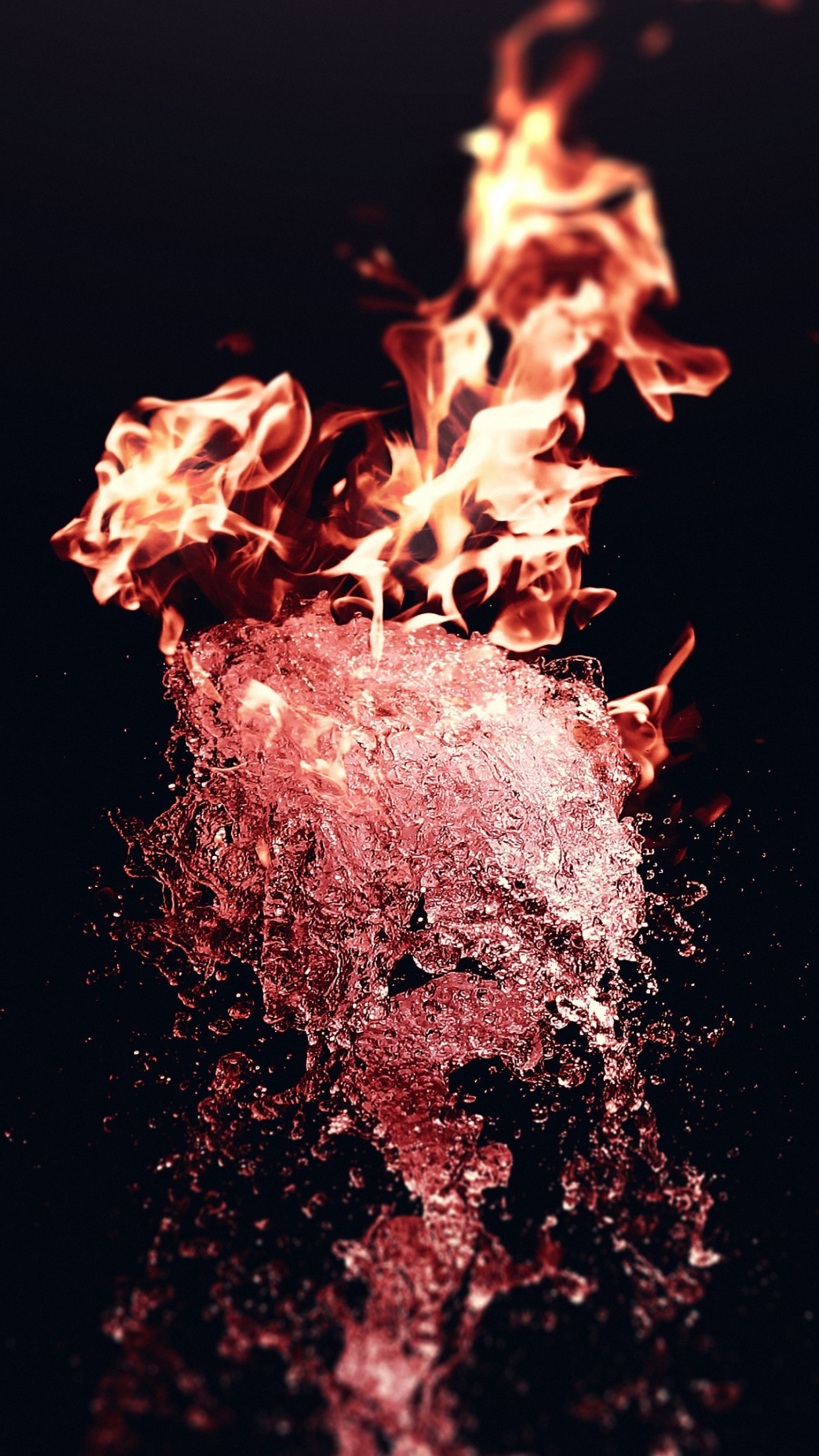 Fire vs Water wallpaper 1242x2208