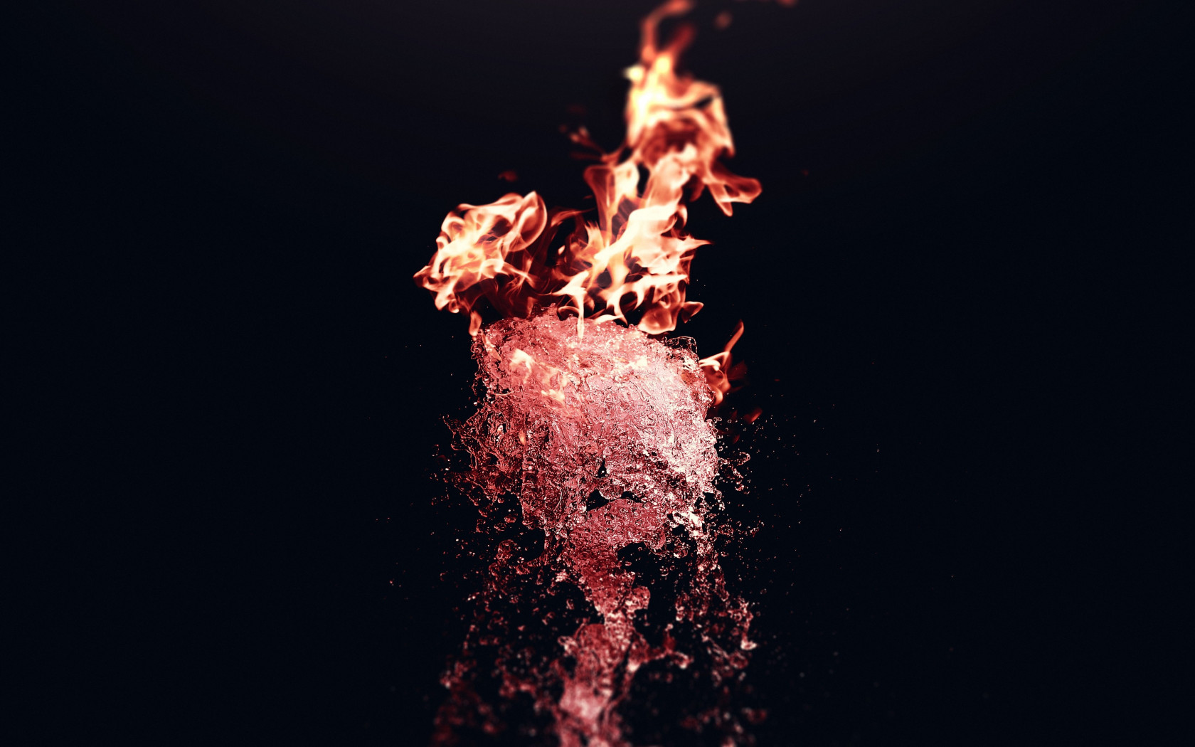 Fire vs Water wallpaper 1680x1050