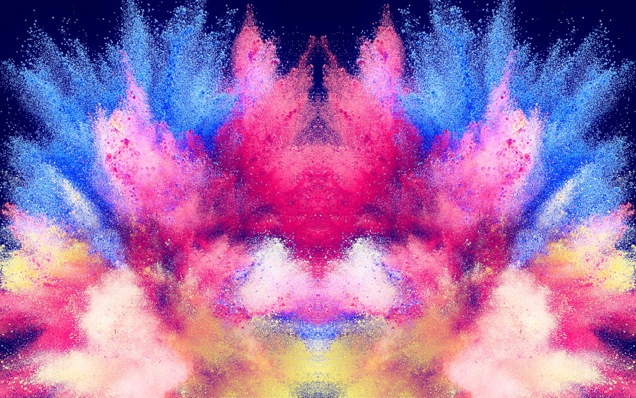 Abstract illustration: Powder colors wallpaper 1280x800
