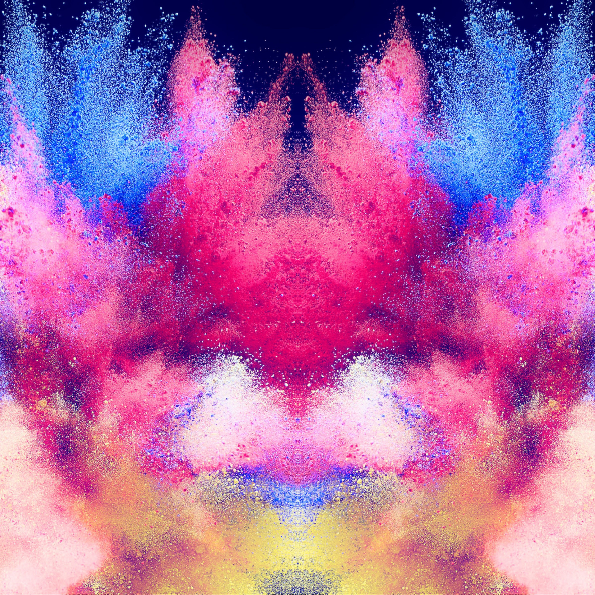 Abstract illustration: Powder colors wallpaper 2048x2048