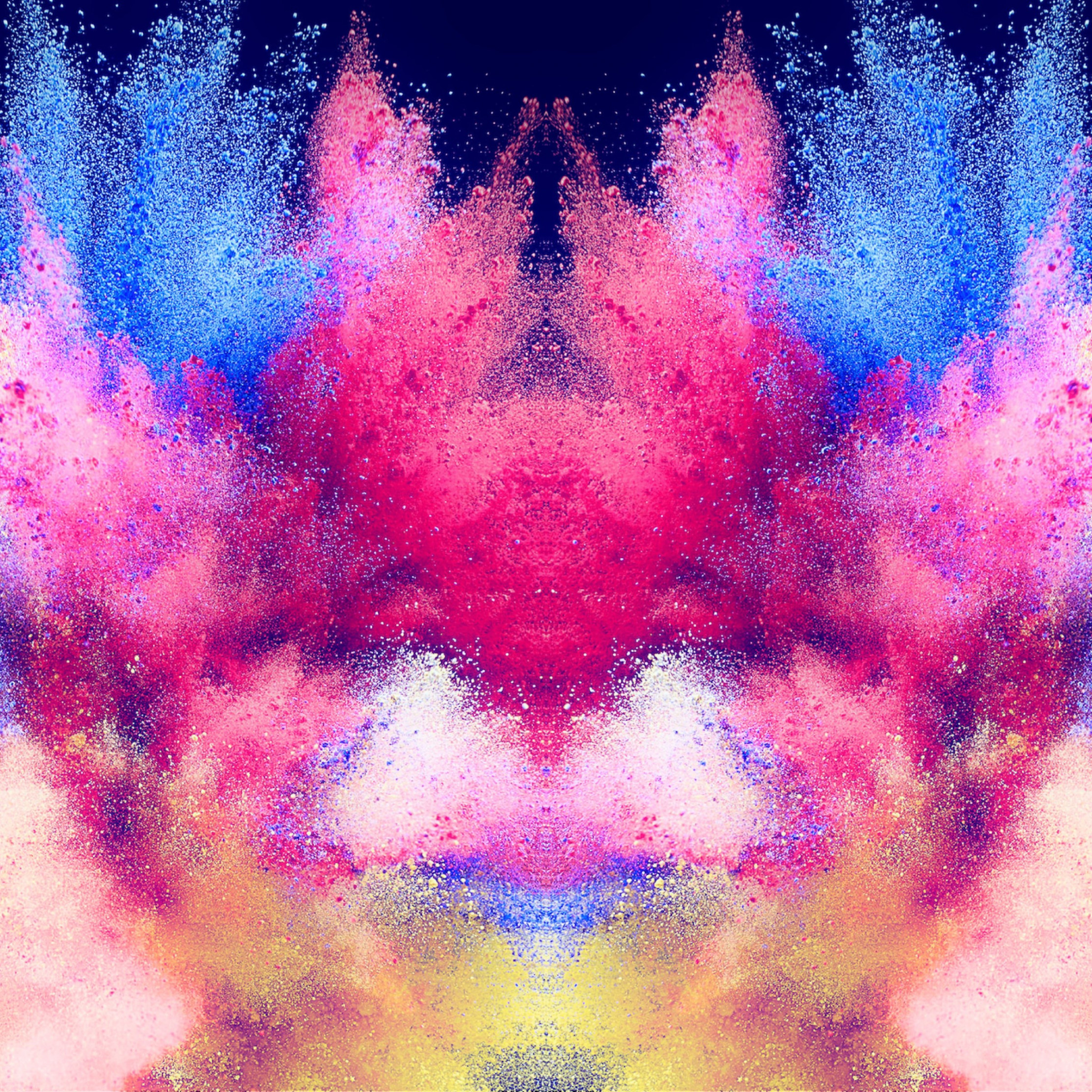 Abstract illustration: Powder colors wallpaper 2224x2224