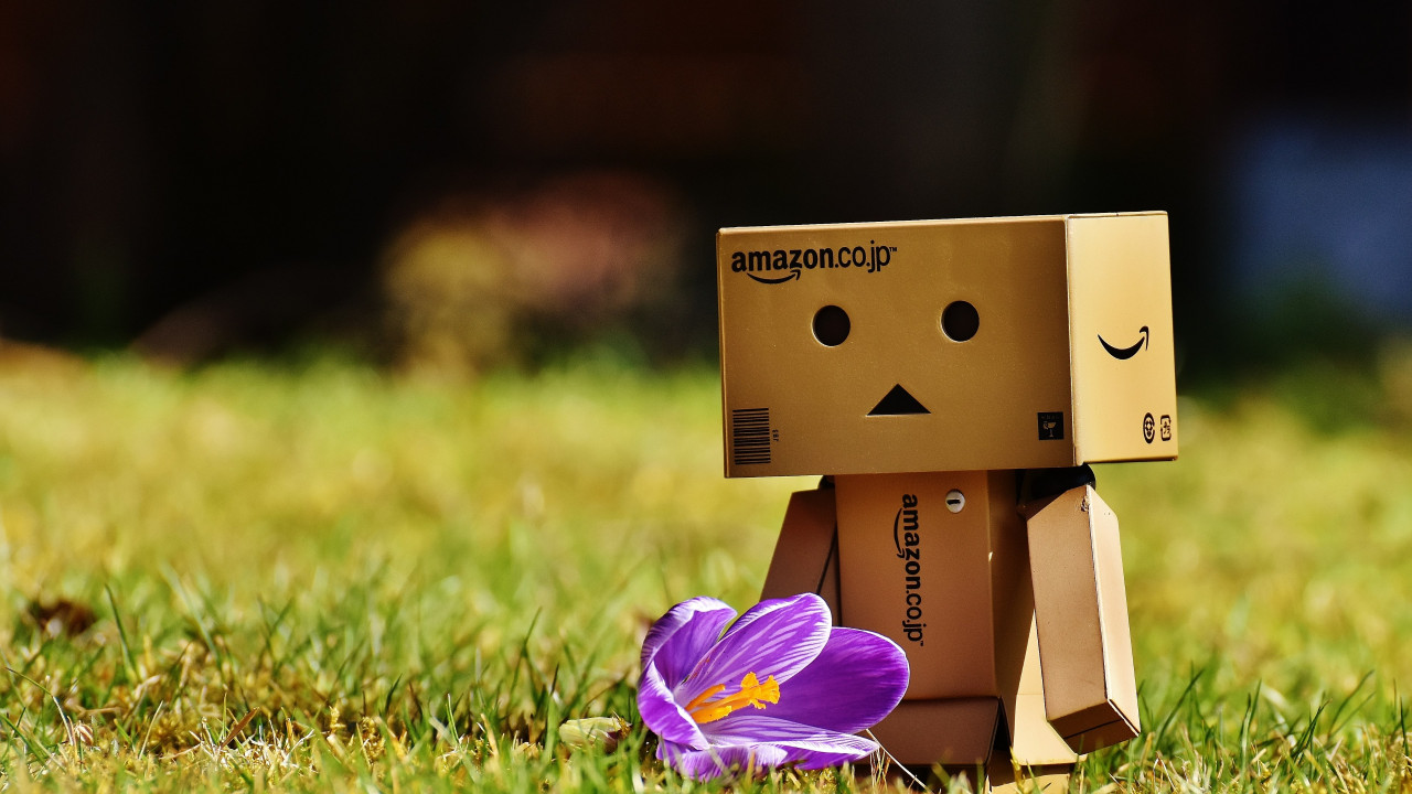 Danbo is enjoying of Spring wallpaper 1280x720