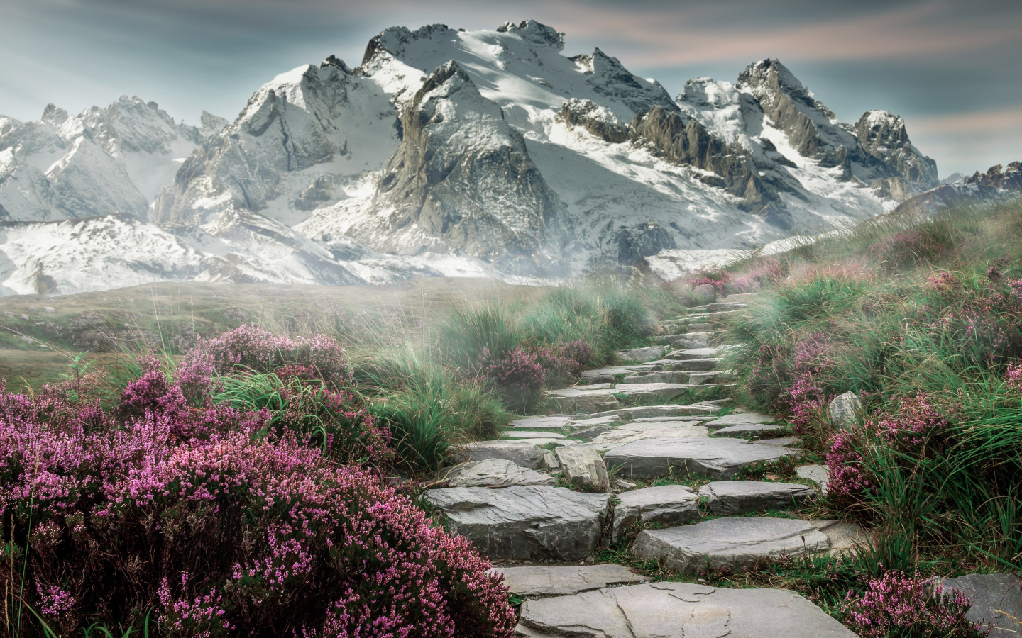Surreal mountain landscape wallpaper 1440x900