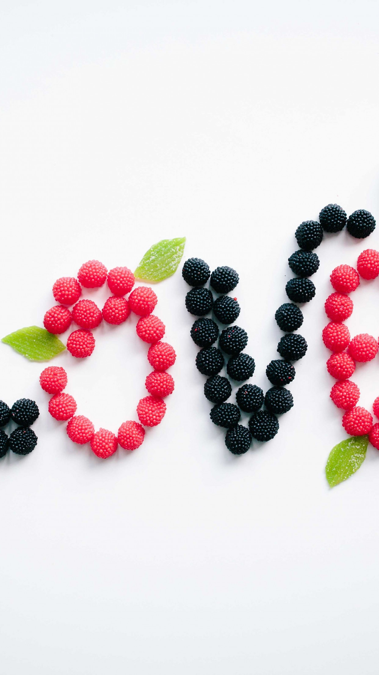 Love message with fruits | 1242x2208 wallpaper