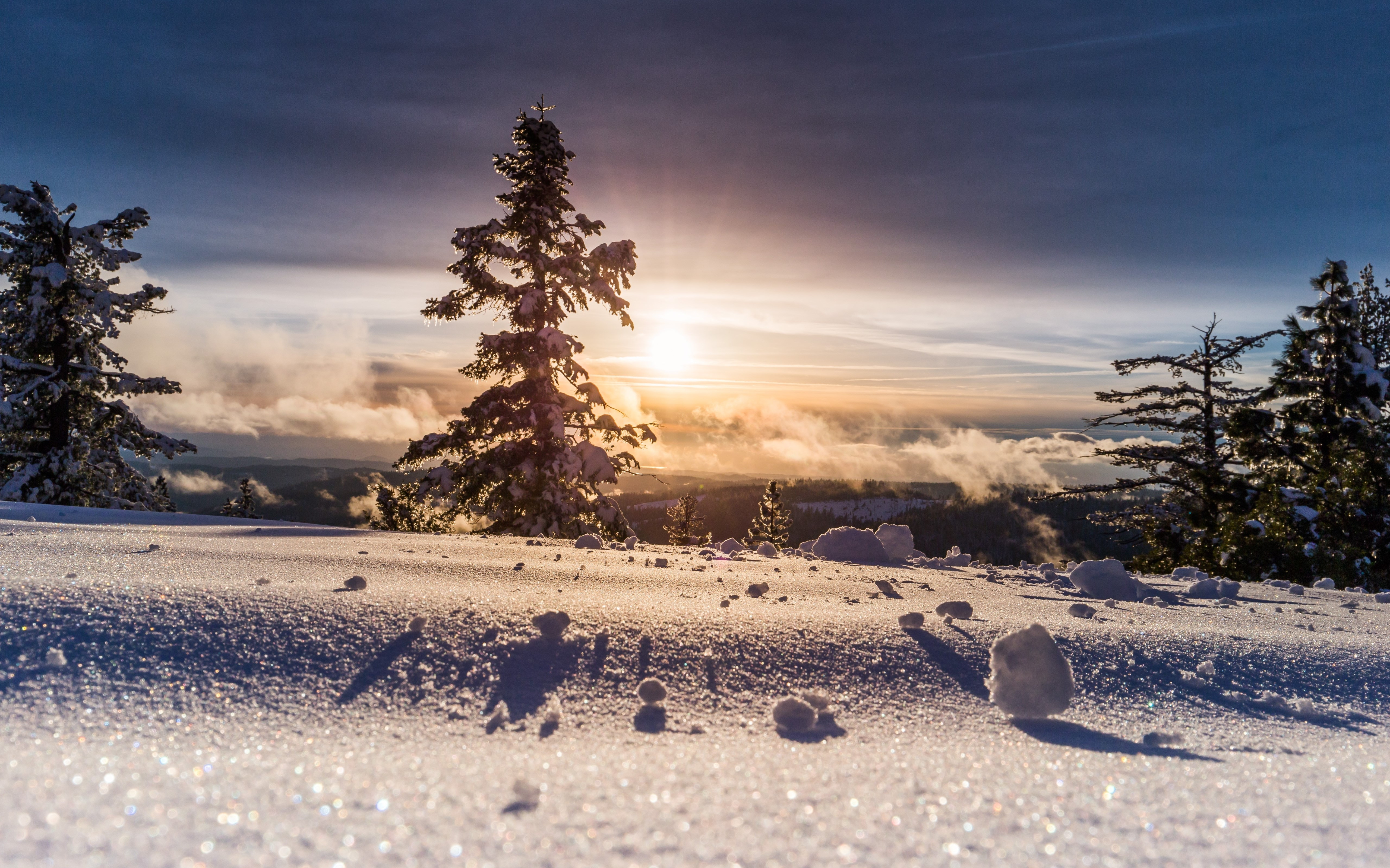 Perfect Winter view wallpaper 5120x3200