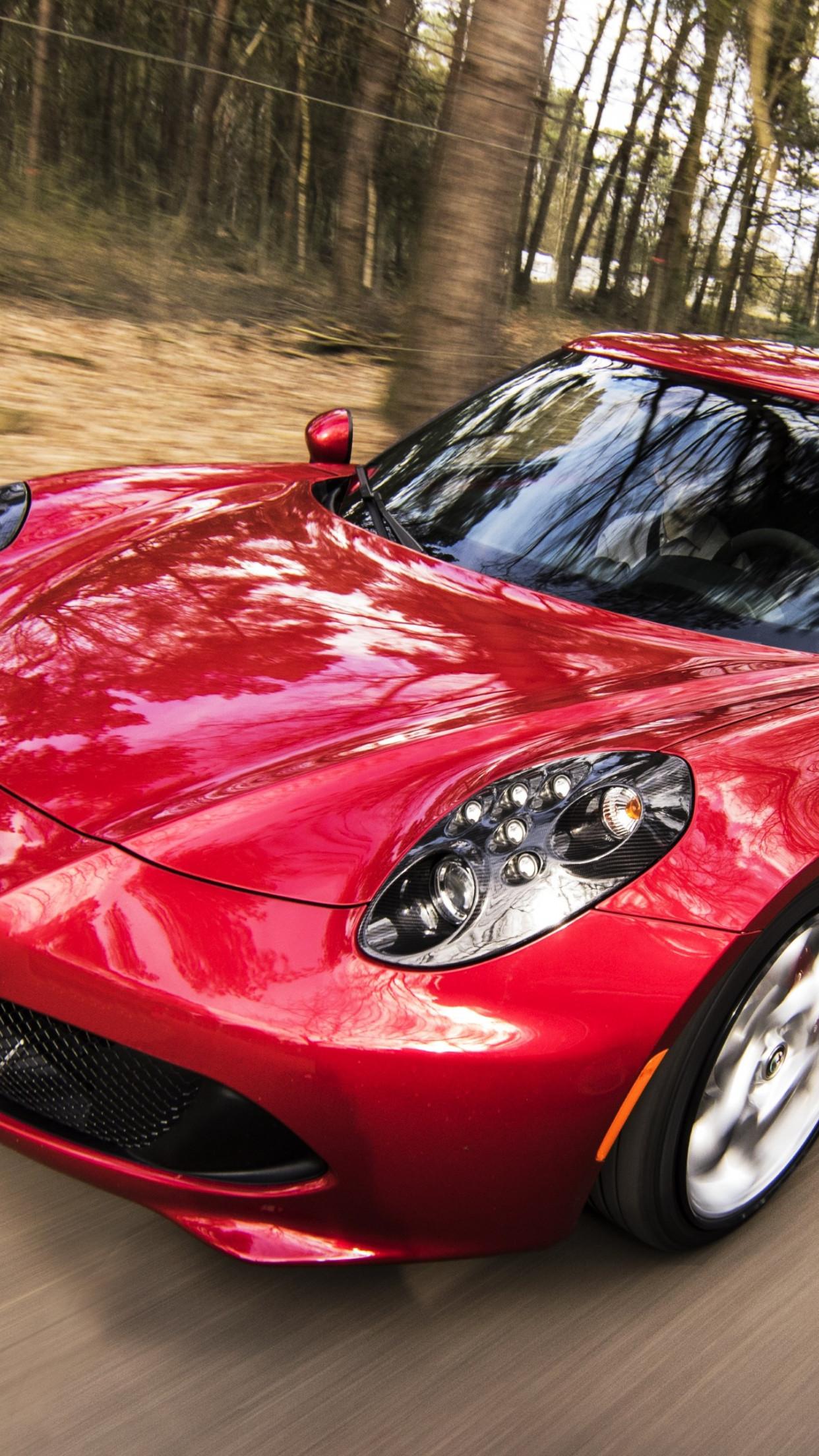 Download Wallpaper Alfa Romeo 4c Coupe 1242x2208