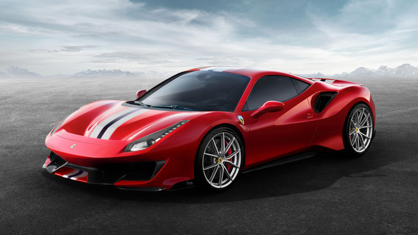 Ferrari 488 Pista wallpaper 1366x768