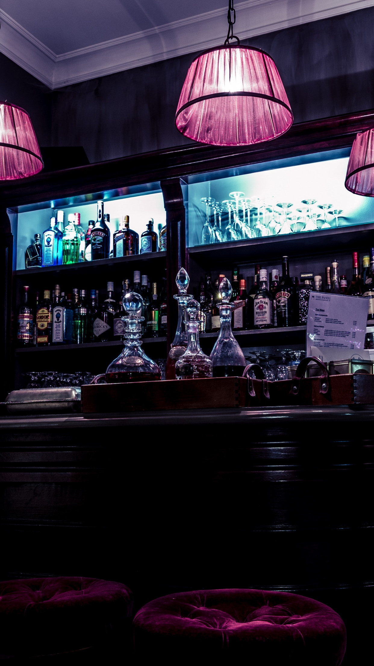 Interior bar design wallpaper 1242x2208