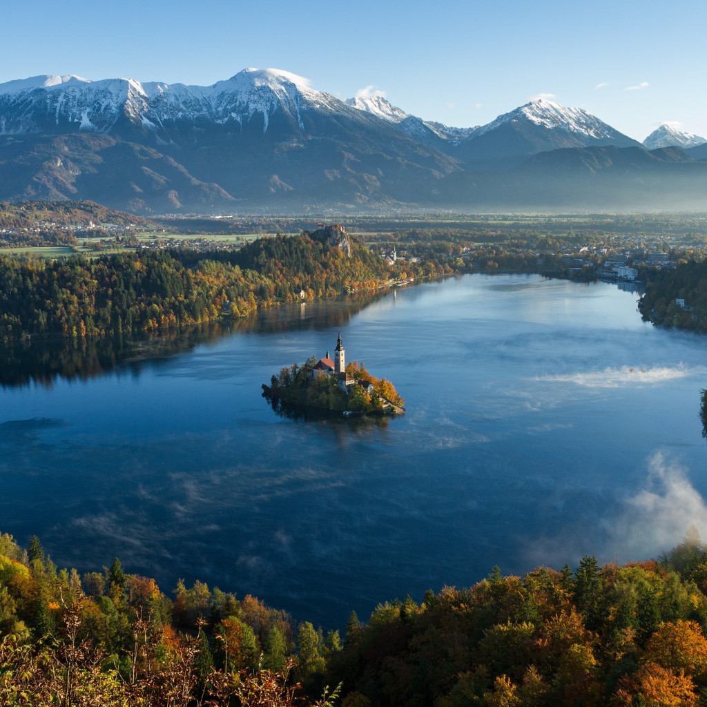 Best landscape from Bled, Slovenia | 1024x1024 wallpaper
