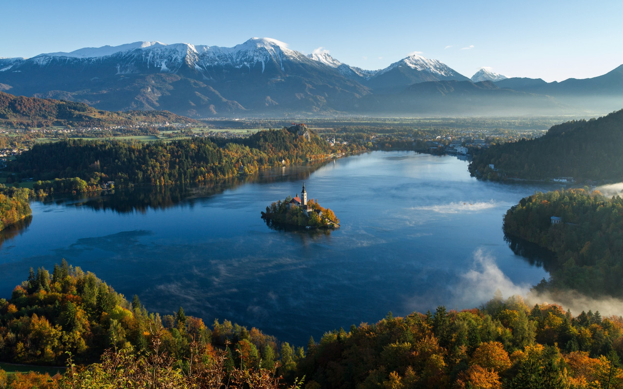 Best landscape from Bled, Slovenia wallpaper 1280x800