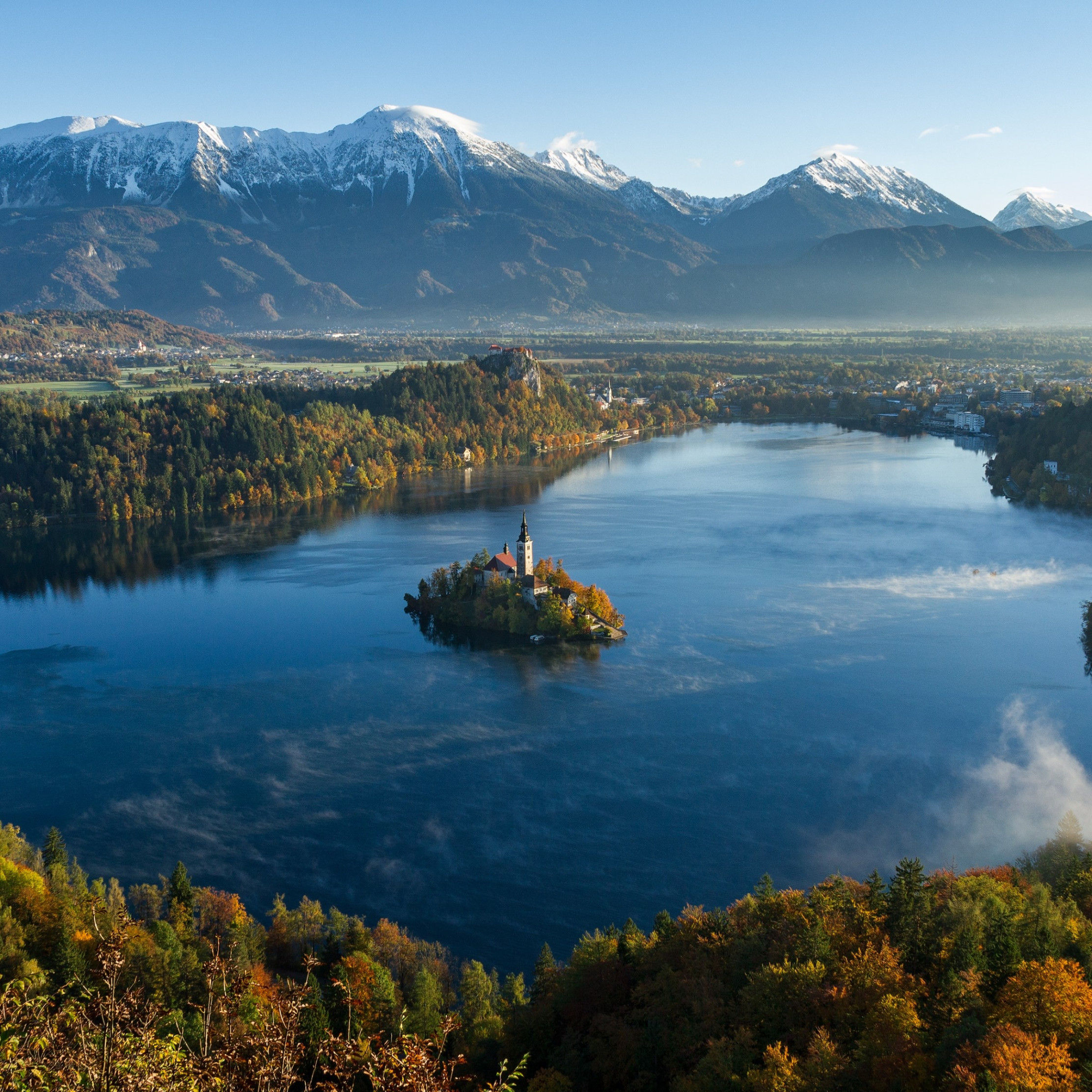 Best landscape from Bled, Slovenia wallpaper 2224x2224