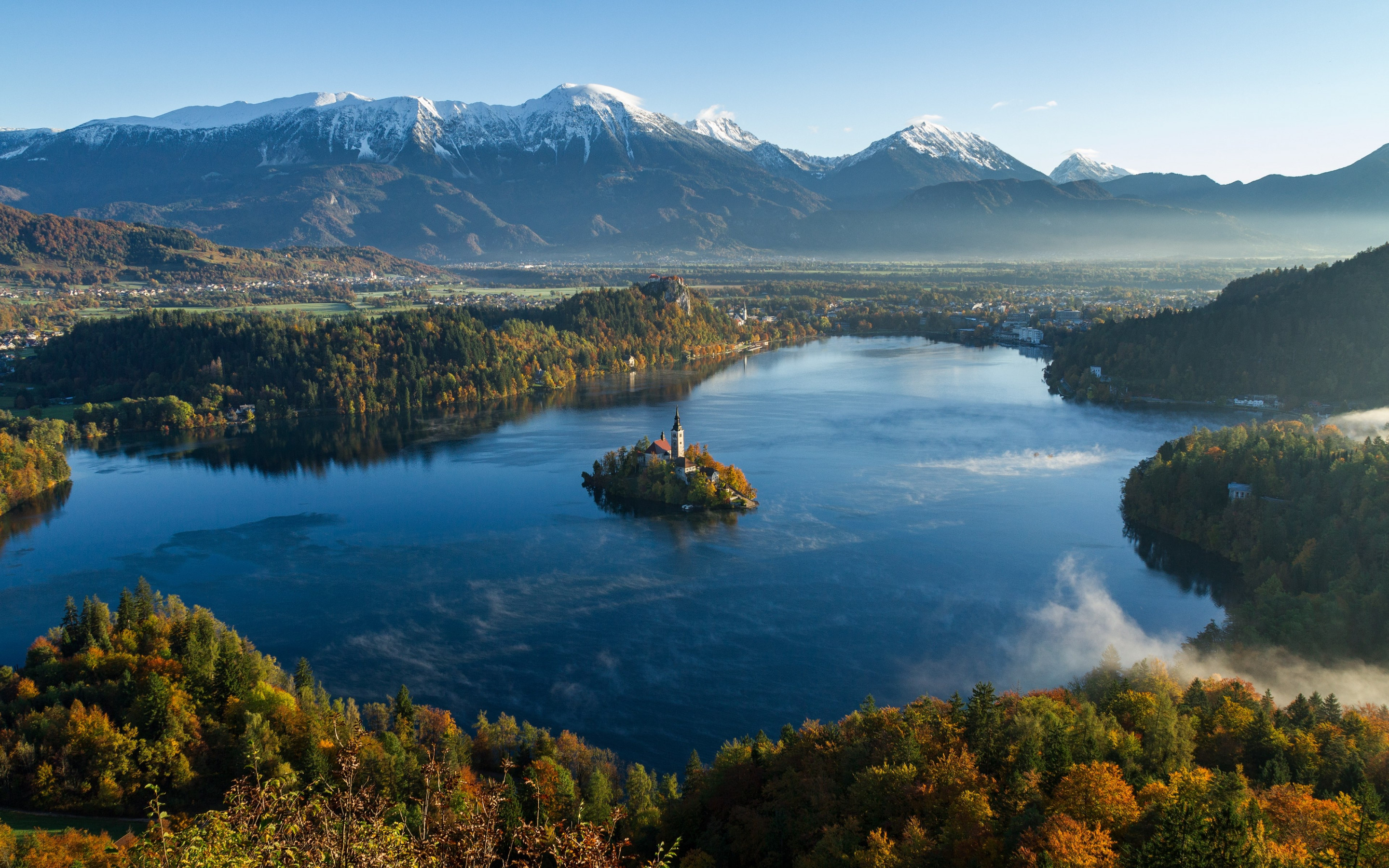 Best landscape from Bled, Slovenia wallpaper 2880x1800