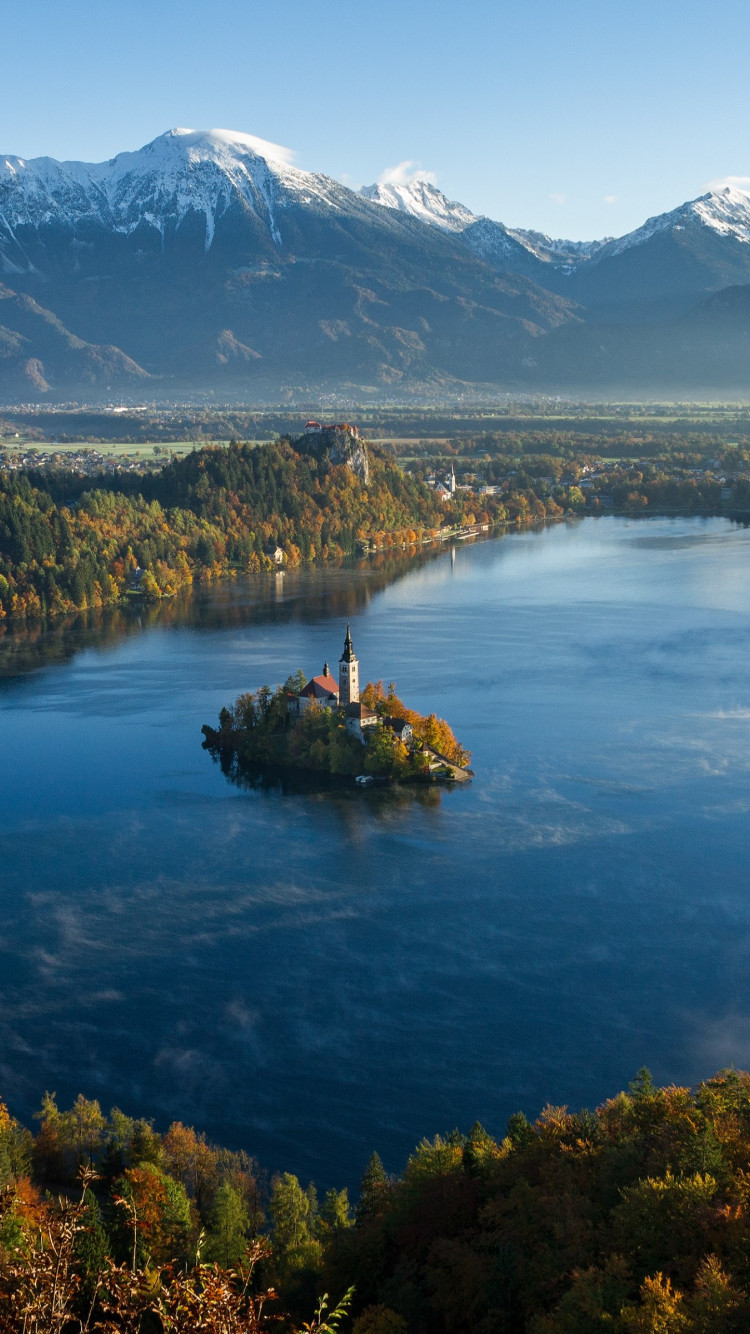 Best landscape from Bled, Slovenia | 750x1334 wallpaper