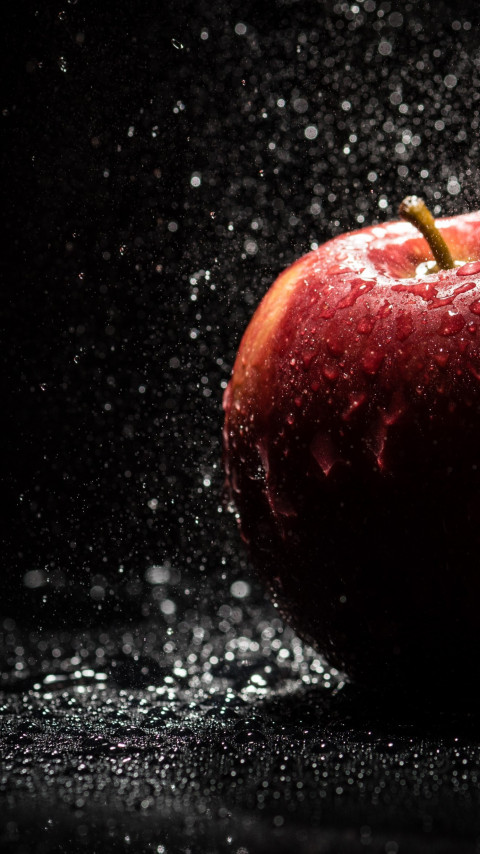 The apple, natural red apple wallpaper 480x854