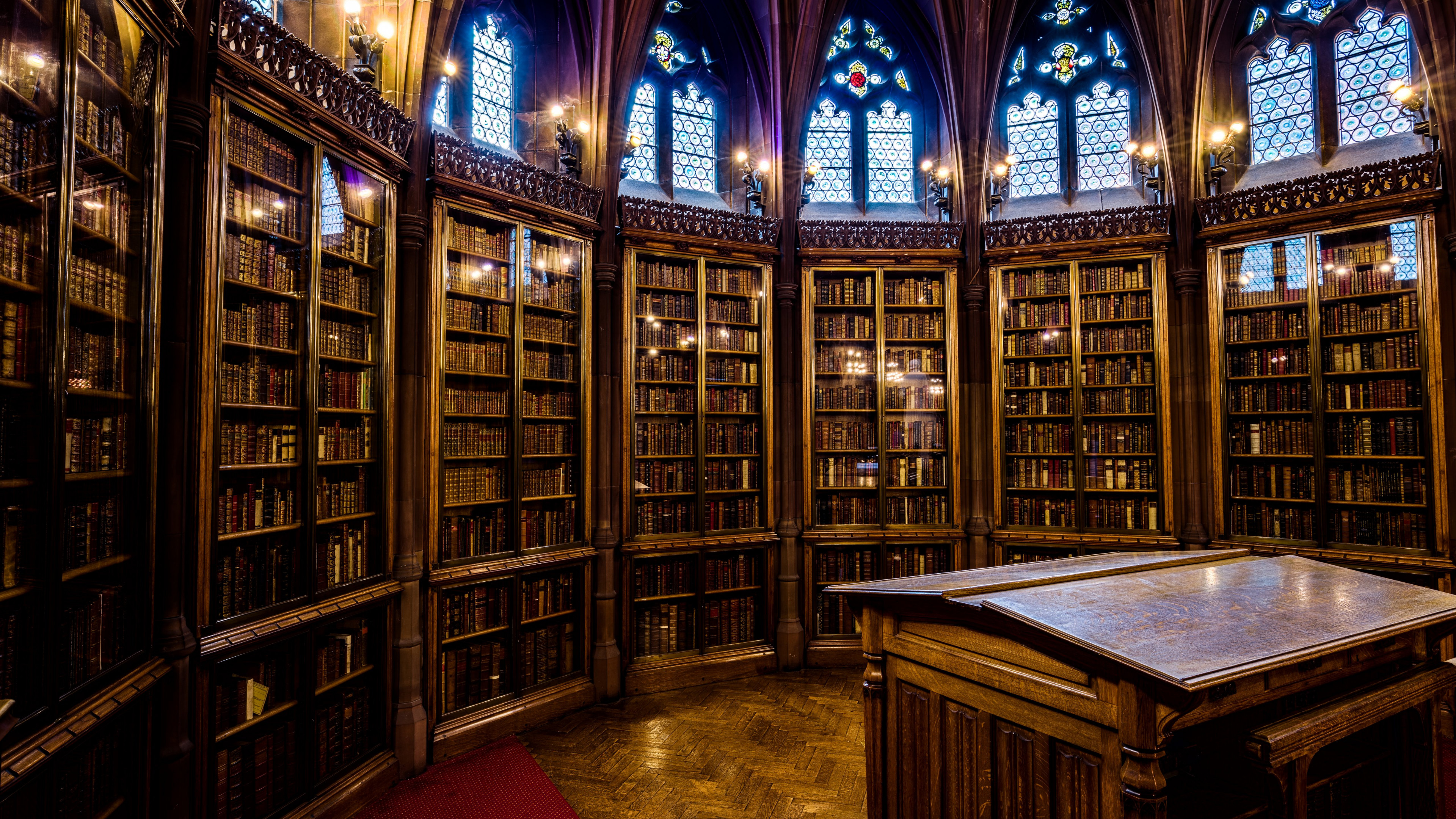 The Interior of John Rylands library wallpaper 3840x2160