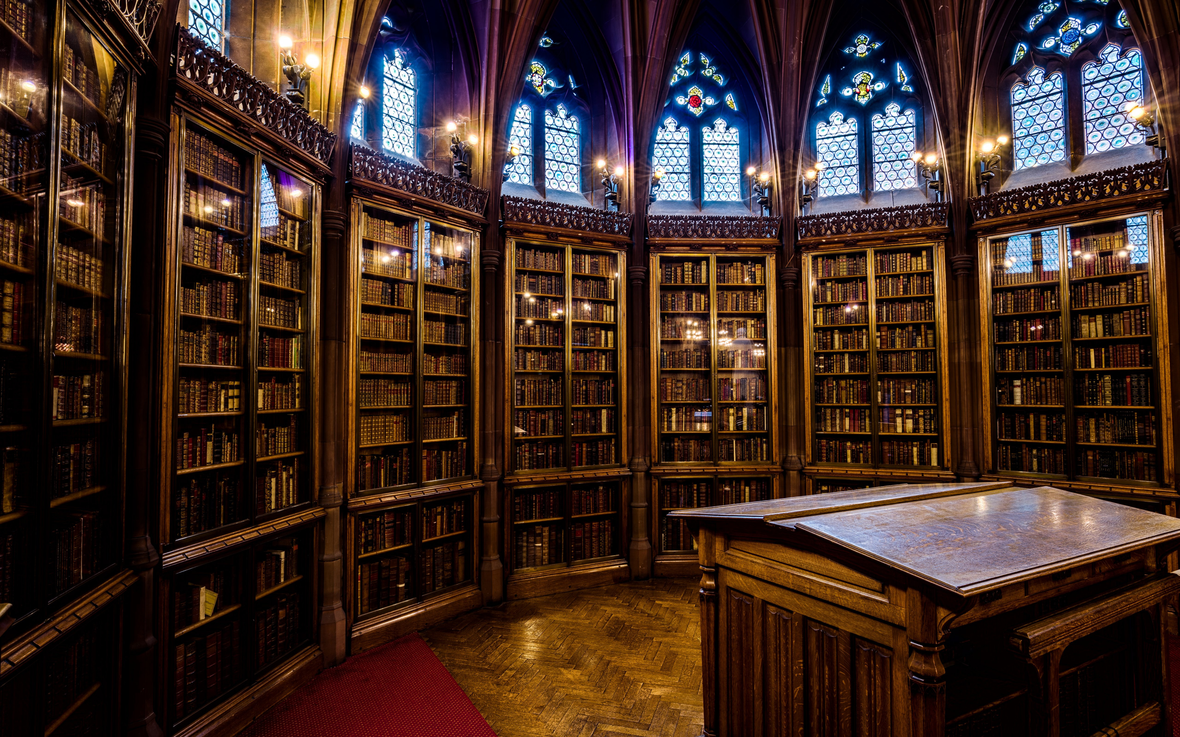 The Interior of John Rylands library wallpaper 3840x2400