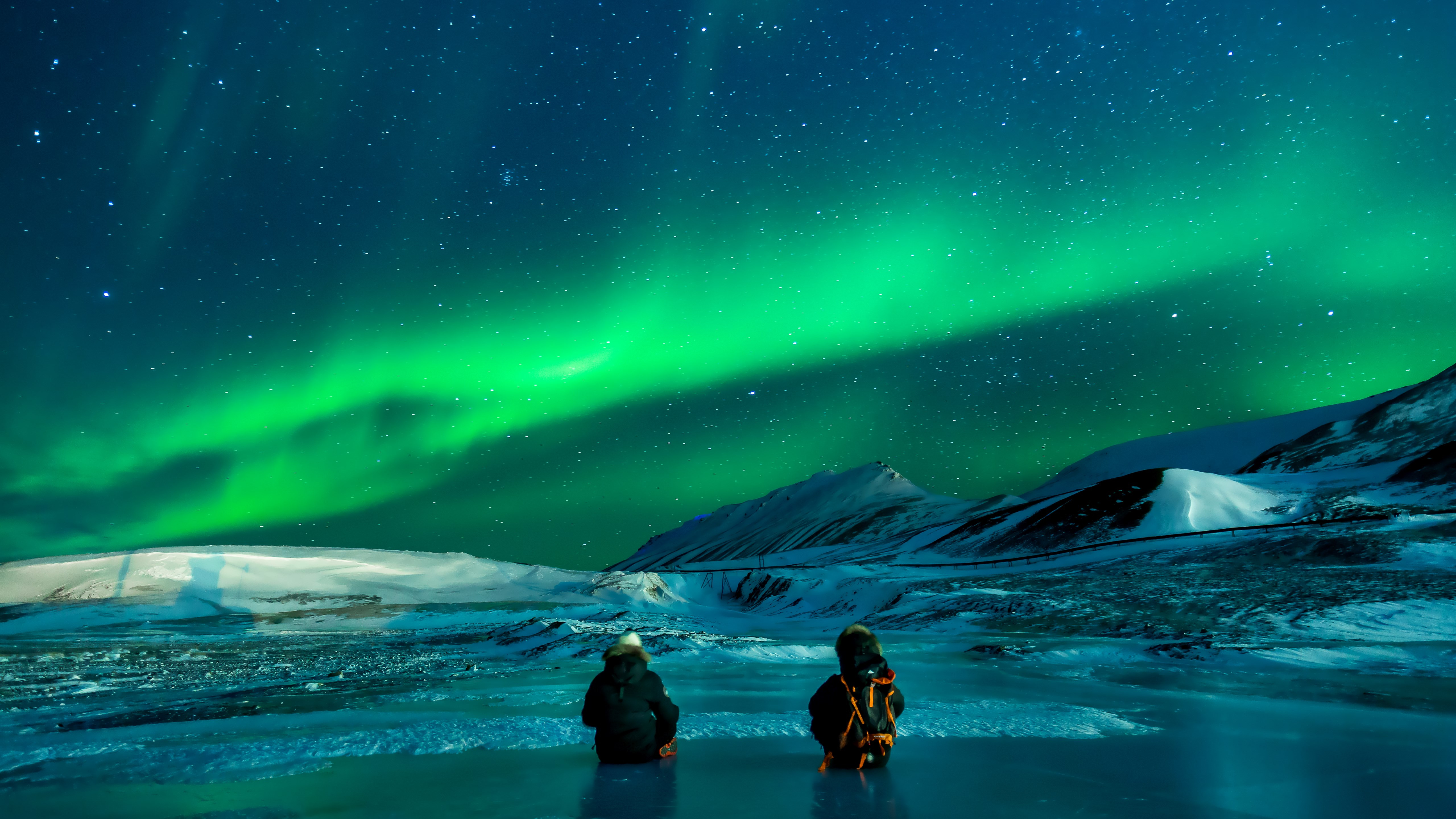 download wallpaper  aurora borealis 5120x2880